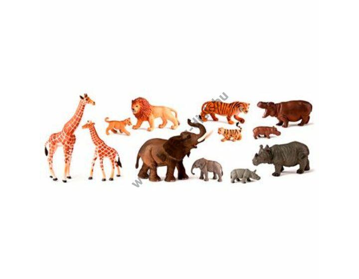 Dzsungel állatok és kicsinyeik, 12 figura