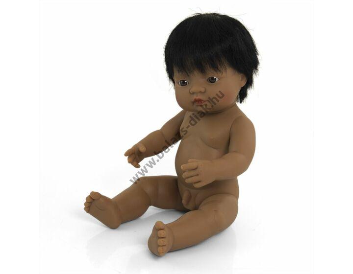 Hajas baba, 38 cm, ruha nélkül, latin-amerikai fiú