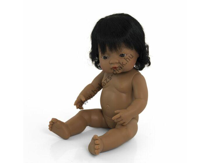 Hajas baba, 38 cm, ruha nélkül, latin-amerikai lány