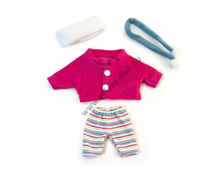 Téli ruha - 21 cm-es babához (lány)