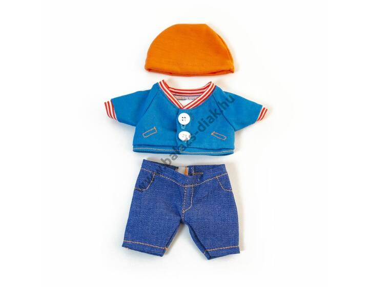 Nyári ruha - 21 cm-es babához (fiú)