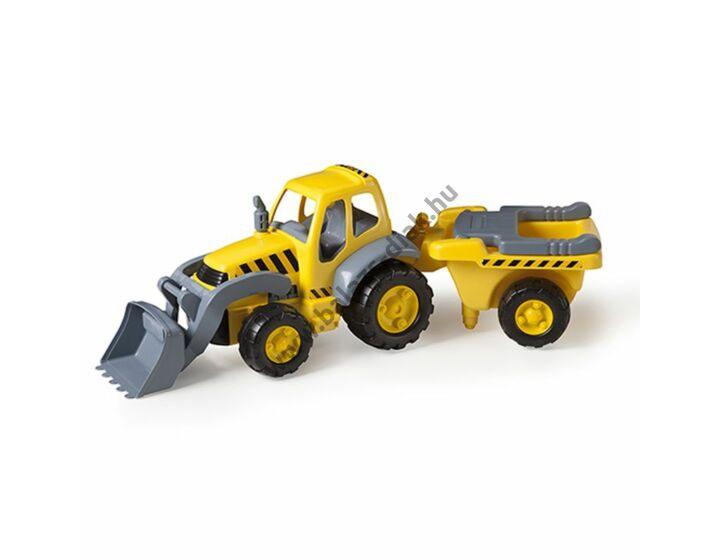 Traktor utánfutóval, 83 cm