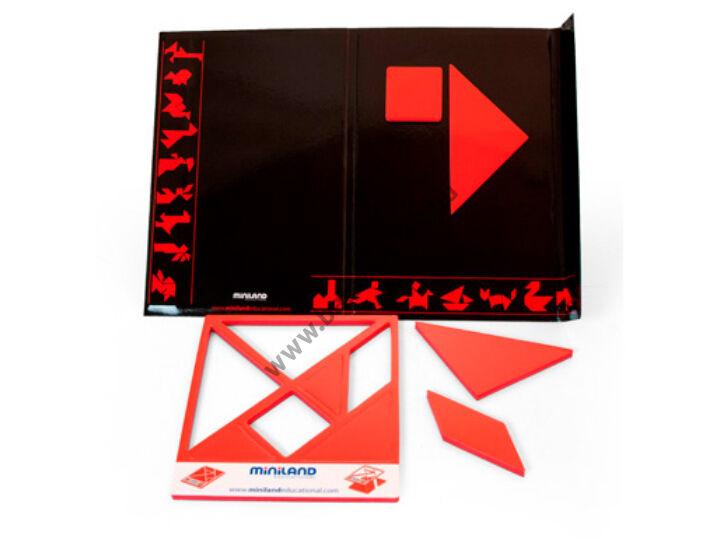 Mágneses tangram készlet