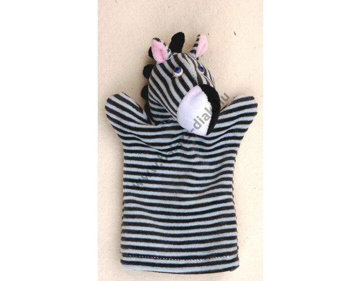 Háromujjas báb: zebra - gyerek kézre