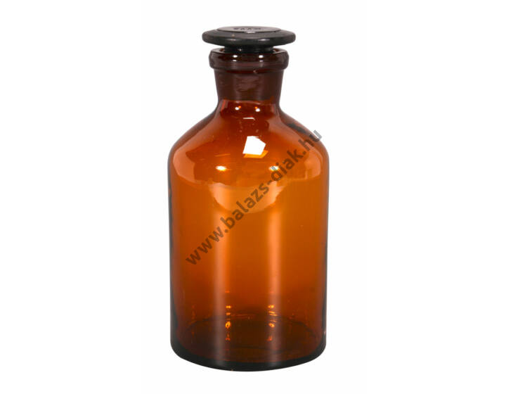 Folyadéküveg normálcsiszolatos dugóval, barna üvegből, 500 ml