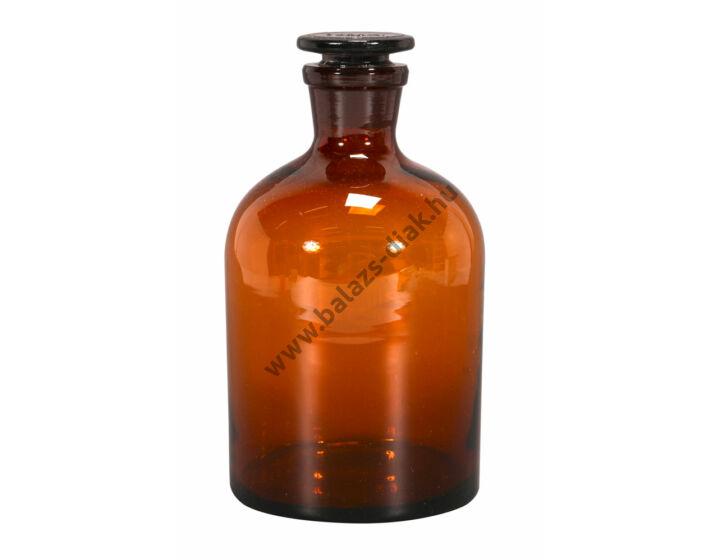 Folyadéküveg normálcsiszolatos dugóval, barna üvegből, 1.000 ml