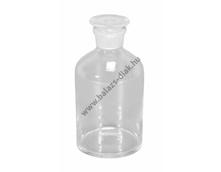 Folyadéküveg normálcsiszolatos dugóval, fehér üvegből, 500 ml