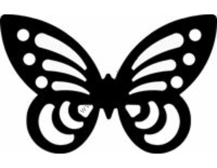 3D sziluett formalyukasztó 38 mm, pillangó