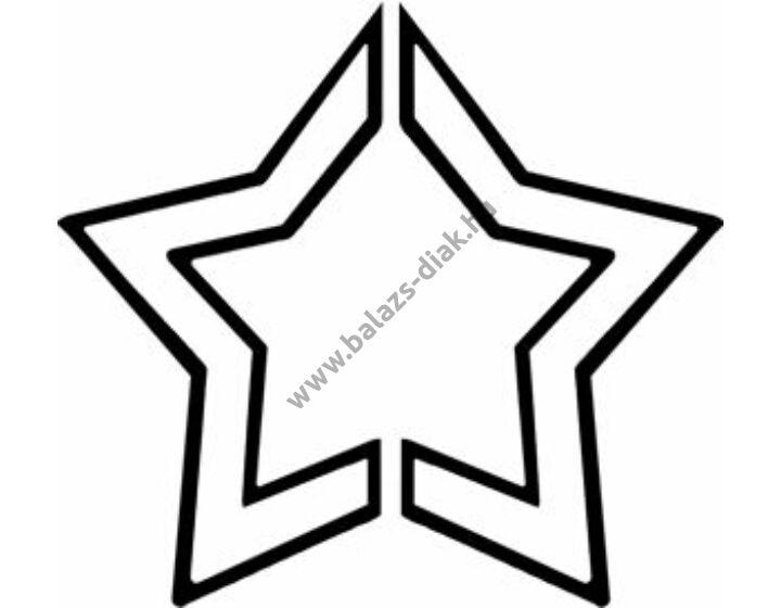 3D formalyukasztó 16 mm, csillag