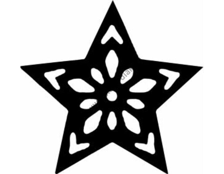 3D sziluett formalyukasztó 38 mm, csillag