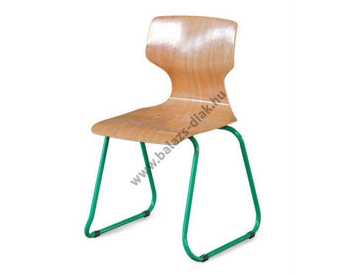 Ergonómiai palástú szék szánkótalpas vázzal kárpitozott üléslappal