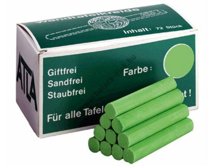 Színes kréta 72 db zöld színű