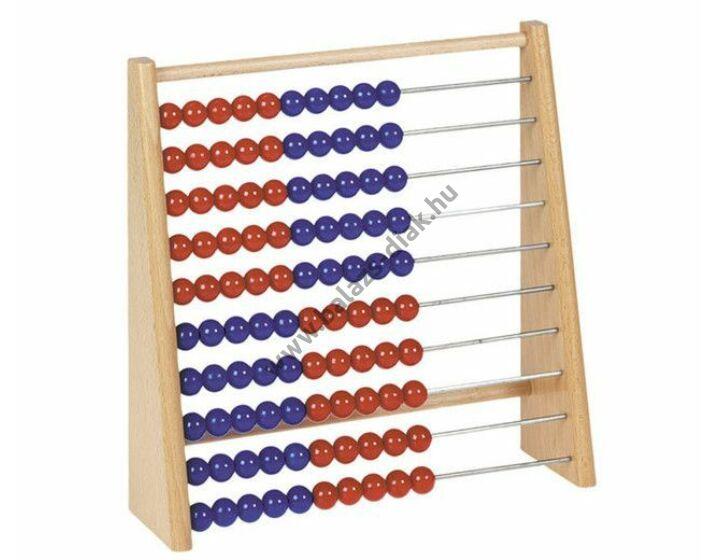 Nagy tanulói abakusz 100-ig/piros-kék