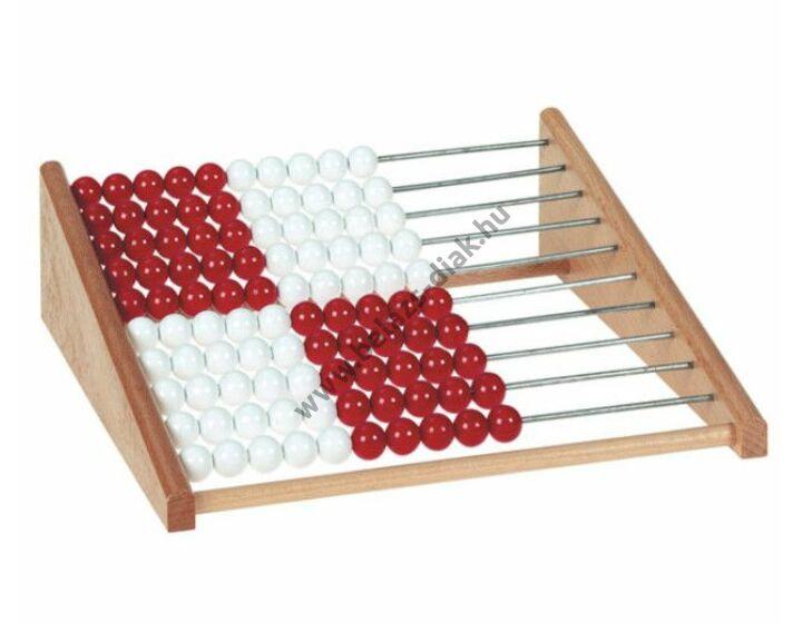 Nagy tanulói abakusz 100-ig/piros-fehér