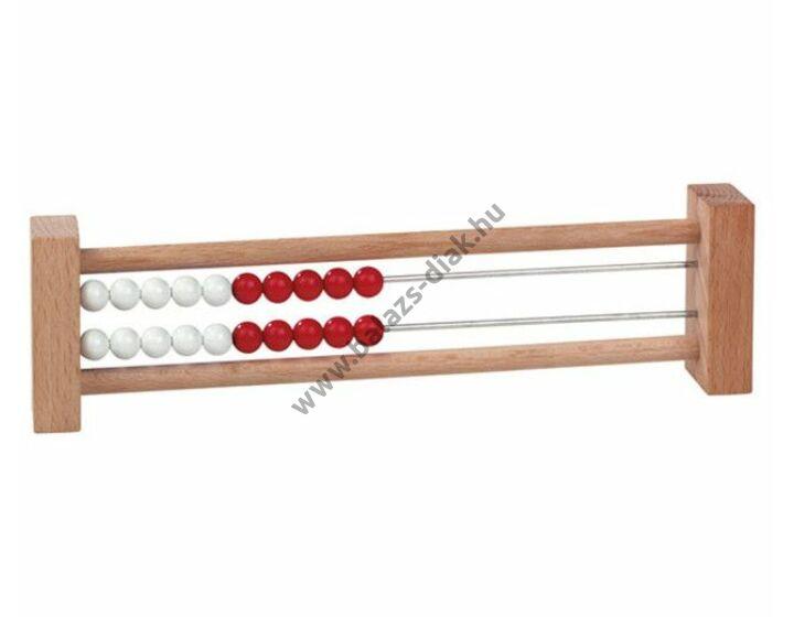 Tanulói 20-as számolókeret (piros-fehér golyókkal)