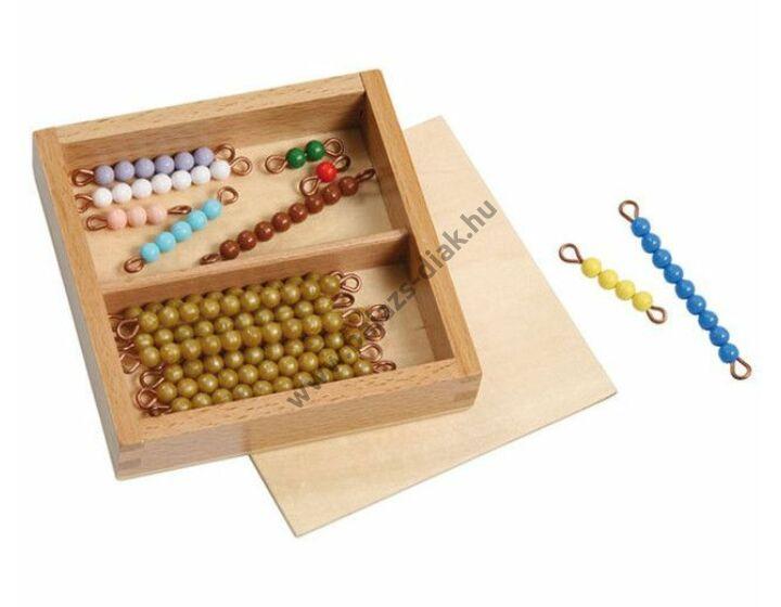 Színes számoló gyöngysorok