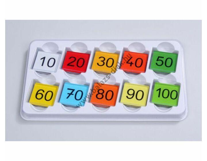 Kétoldalas színes mágneses lapocskák színes eredménykártyához 100 db