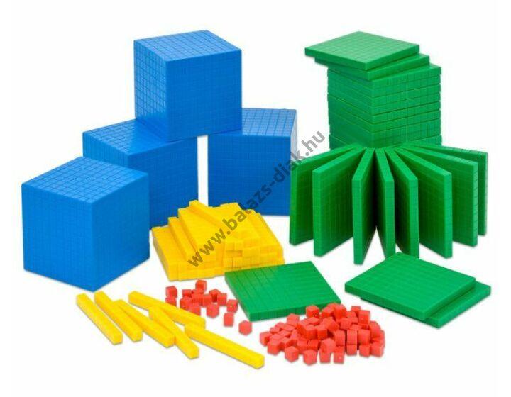 Számolókockák - csoportoknak tanulói színes tízes rendszertömbök