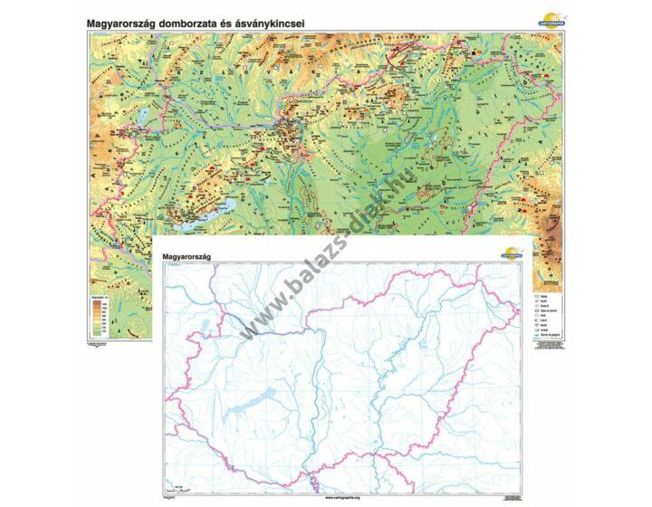 Magyarország domborzata és ásványkincsei + vaktérkép DUÓ