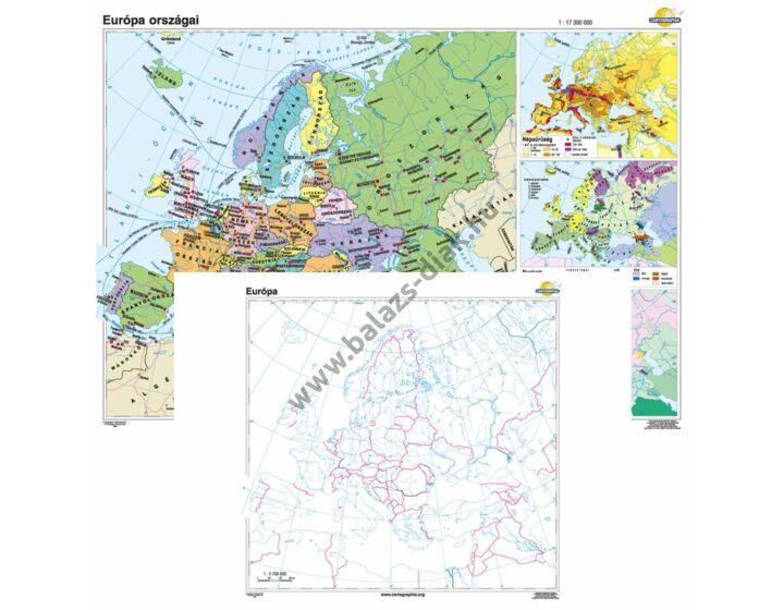 Európa országai + vaktérkép DUÓ
