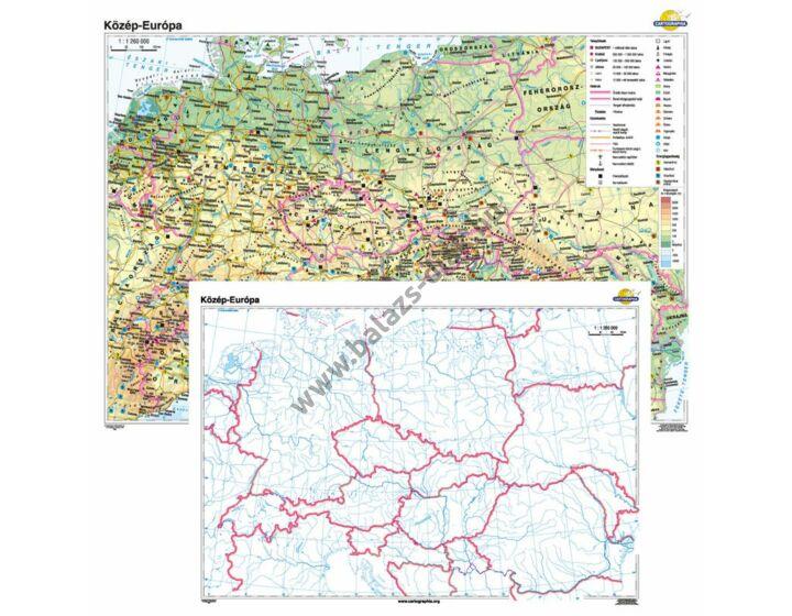 Közép-Európa + vaktérkép DUÓ