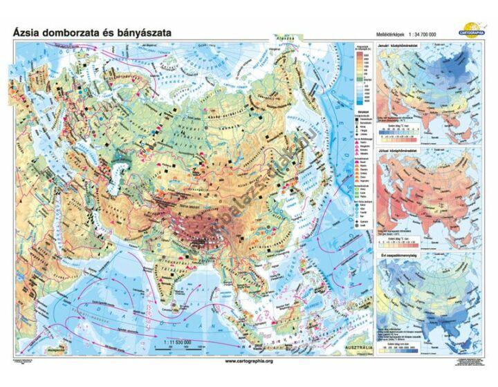 Ázsia domborzata és bányászata