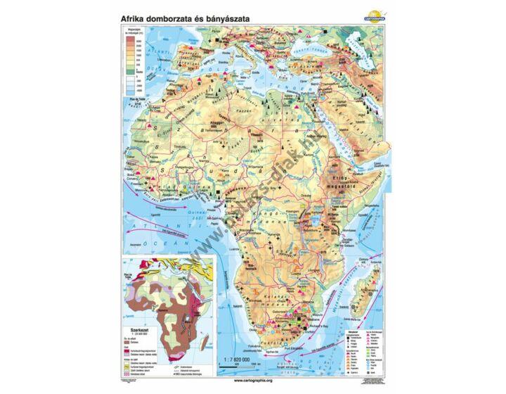 Afrika domborzata és bányászata