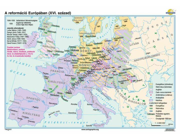 A reformáció Európában (XVI. század)