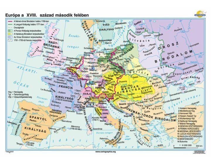 Európa a XVIII. század második felében