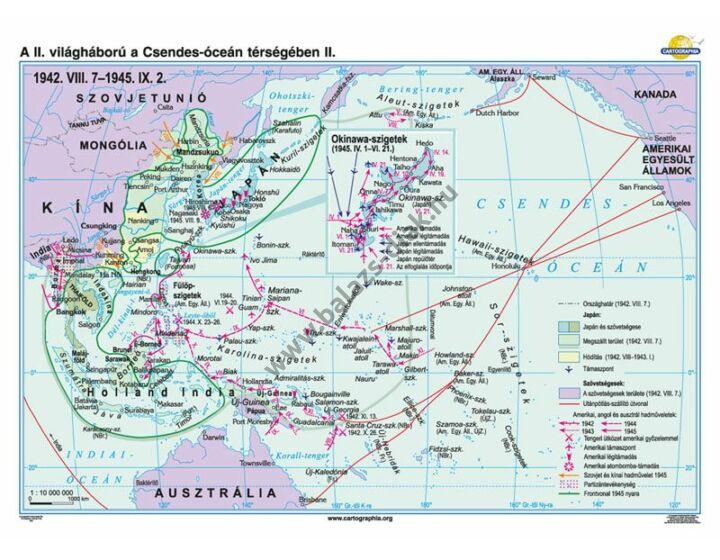 A II. világháború a Csendes-óceán térségében (1942.VIII.7-1945.IX.2.)