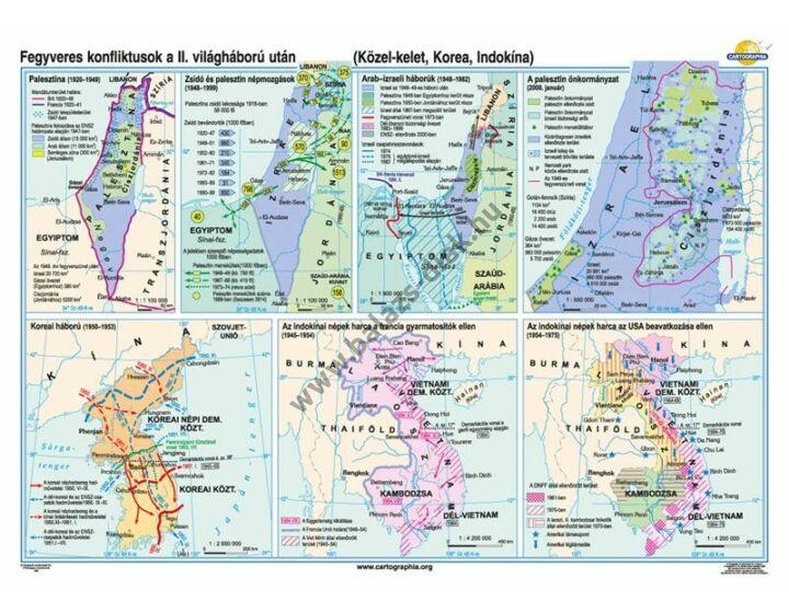 Fegyveres konfliktusok a II világháború után (Közel-Kelet, Korea, Indokina)