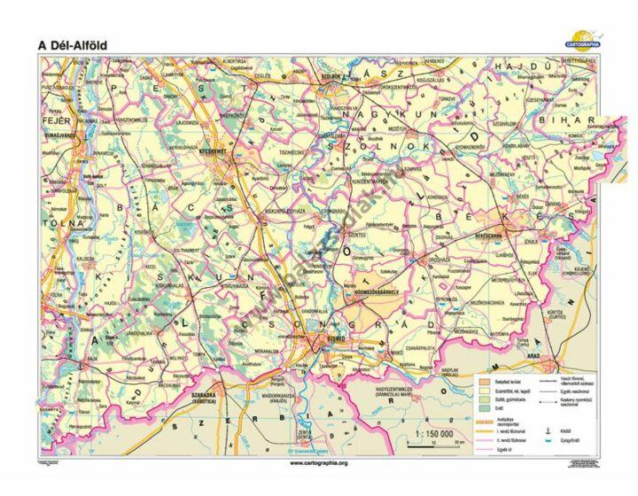 Dél-Alföld térkép 140x100 cm