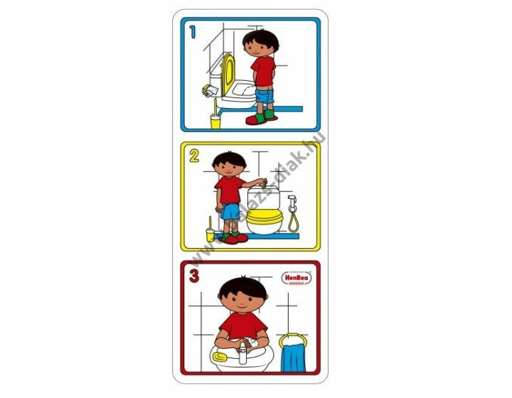 Hogyan használjuk a WC-t (fiú) - képkártya