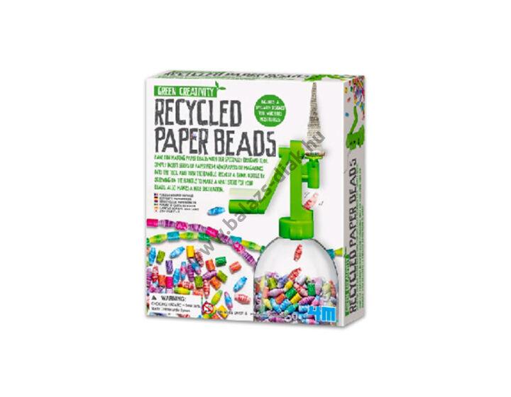Papír újrahasznosító  gyöngykészítő készlet