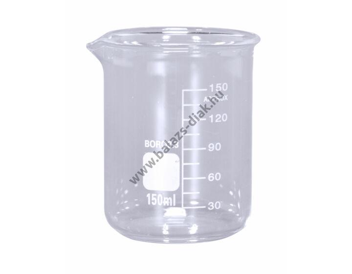 Főzőpohár magas 150ml kiöntővel beosztással