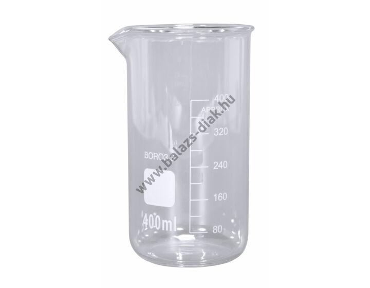 Főzőpohár magas 400 ml