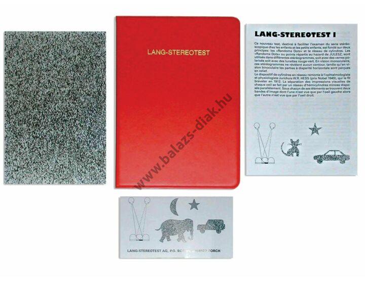 Látásvizsgáló LANG stereo test I.