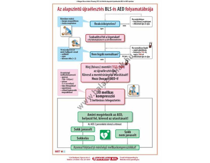Az alapszintű újraélesztés BLS és AED folyamatábrája